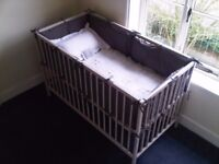 Farrow and Ball hand-painted cot