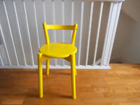Yellow Chair - solid wood - ikea chair