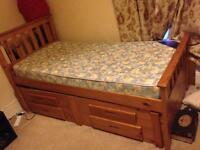 Single Captains Bed with storage