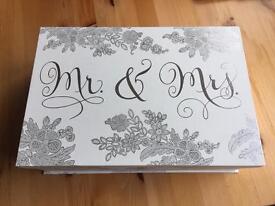 Mr & Mrs Wedding Card Box