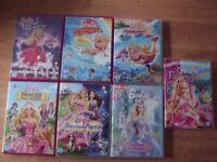 Barbie Princess Child Girls DVDs Bundle of 7