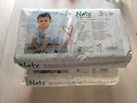 New - Naty by Nature Babycare Size 3 Nappies 2x52 pack