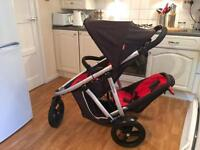 Phil and Teds Vibe pushchair/Buggy/stroller with new wheels and raincover.