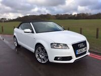 2010 Audi A3 Cabriolet 1.2 TFSI S Line 2dr, 53000 miles, IMMACULATE