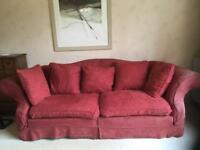 Tetrad large sofa dark red