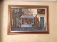 Large original oil painting.