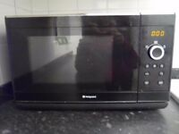 Microwave - Hotpoint- Black - very good condition