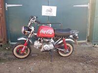 Skyteam monkey bike 2009 125cc Coca Cola livery