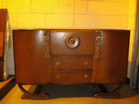 VINTAGE BEAUTILITY ART DECO COCKTAIL CABINET DRINKS CABINET SIDEBOARD FREE DELIVERY
