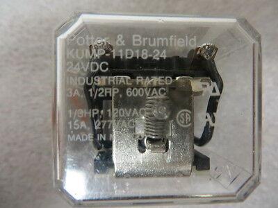 Potter Blumfield Kump-11d18-24 Relay 24 Volt Dc 15 Amp New