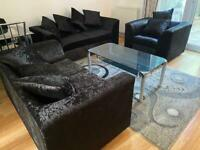3+2+1 Seater Sofa Brand new Crush Velvet For Sale