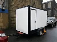 Twin axel box trailer