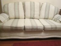 Comfortable three seater sofa and one armchair (armchair could be project) SS7 area.