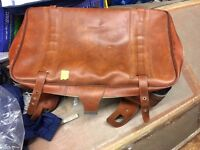 vintage leather hipster suitcase collectible