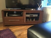 Tv unit sideboard and side table walnut coloured good condition