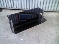 GLASS 3 LAYER TV STAND TABLE - GOOD CONDITION