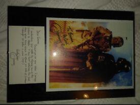 Star Wars autographed print & personal letter - Boba Fett (Jeremy Bulloch).