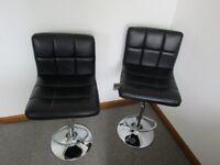 pair black bar stools
