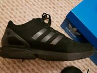 Adidas flux blk trainers junior size 5