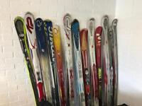 Job lot of used skis K2 Atomic Line