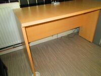 PRICE DROP-SOLID DESK & SWIVEL CHAIR. IN LOVELY CONDITION. DESK COMES APART FOR TRANSPORTING