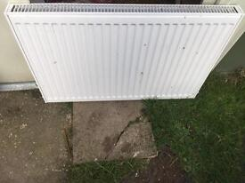 White Double Radiator 900mm wide x 600mm high.
