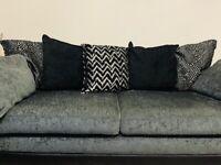 OLLIE 4 seater cushion back sofa