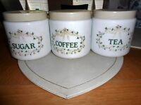 Tea Coffee & Sugar Cannisters