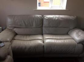 Leather manual reclining sofas free to Collect.