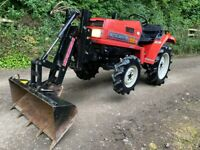 MITSUBISHI MT16 4WD Compact Tractor with Power Loader Bucket *WATCH VIDEO * 734 Hours * Nice tractor