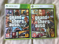 GTA 5 + GTA 4 For Xbox 360