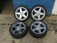 "BMW E30 325i 17"" Azev A Alloy Wheels 7.5J 4x100 VW Golf GTi BBS Alpina Hartge"