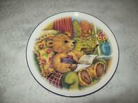 2 DIFFERENT DECORATIVE TEDDY BEAR PLATES