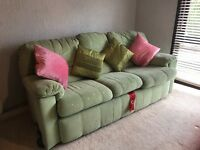 G plan pale green 3 seater Settee and Chair from Leekes cross hands