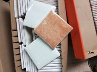 350+ 100mm x 100mm Cream wall tiles + more