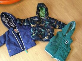Boys winter jackets 9-12 months