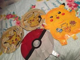 Pokemon baloons x4 Brand new