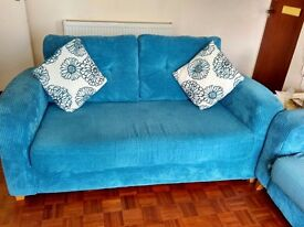 Teal Meadow Sofa Bed (two-seater)
