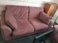3 Seater sofa and 2 single arm chairs