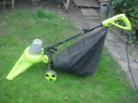Garden Gear Garden Vac electric leaf sweeper - charity sale