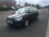2009/58 volkswagen polo 1.4 tdi match black
