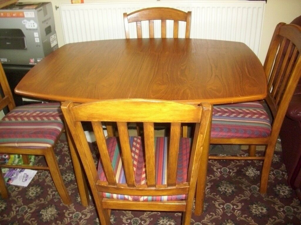 extending table and 4 chairs