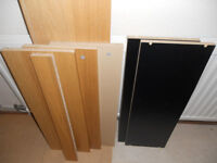 Extra Shelves for 80cm Ikea Billy Bookcase - Oak or Black £3 each