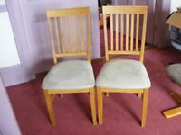 TWO GLASSWELLS WOODEN DINING CHAIRS