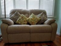 Immaculate and hardly used 2 seater sofa and 2 armchairs - all electric recliners
