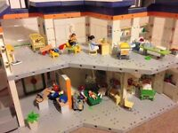 Playmobil hospital with accessories and people, well looked after smoke free house. Odd bit missing