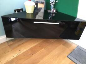 Floating glass TV corner cabinet