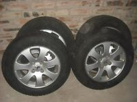 "Peugeot 307 15"" alloy wheels with tyres"
