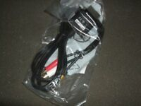 XBOX 360 COMPOSITE AV CABLE X15-61979-01 GENUINE OFFICIAL (BRAND NEW)