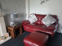 2 and 3 seater sofas plus footstool excellent condition from pet free home